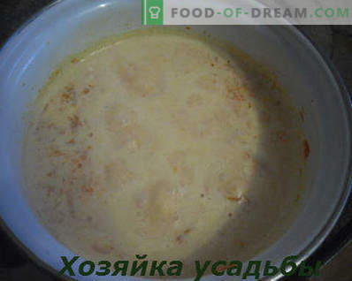 Как да готвя тиква каша в мляко, стъпка по стъпка рецепта със снимки