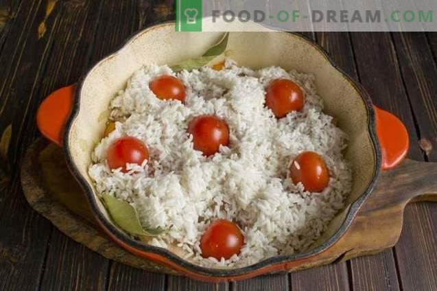 Свинска възглавница със сушени кайсии и чери домати