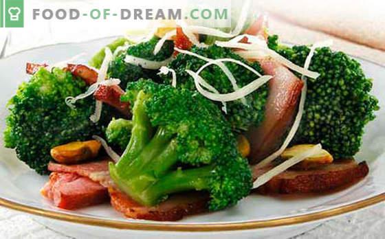 Sałatka z brokułów - pięć najlepszych przepisów. Jak prawidłowo i smacznie ugotować sałatkę z brokułów.