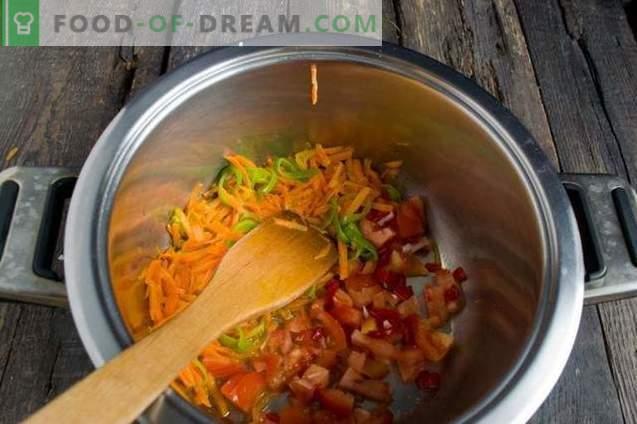 Постно супа с карфиол, кокос и домати
