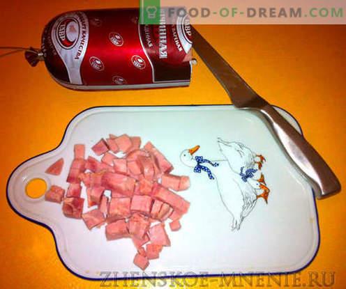 Унгарска салата с шунка