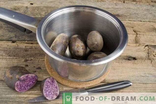 Fastensalat mit violetten Kartoffeln