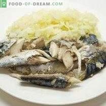 Рибна салата с котлети от брашно от целина и ръж