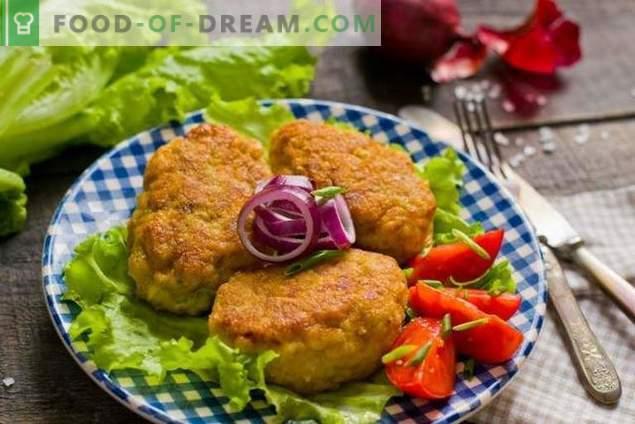 Пилешки кюфтенца с лук