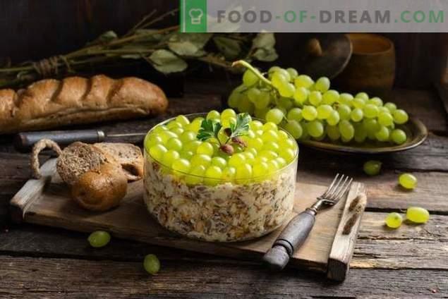 Хранителна салата с пикантно пиле и грозде