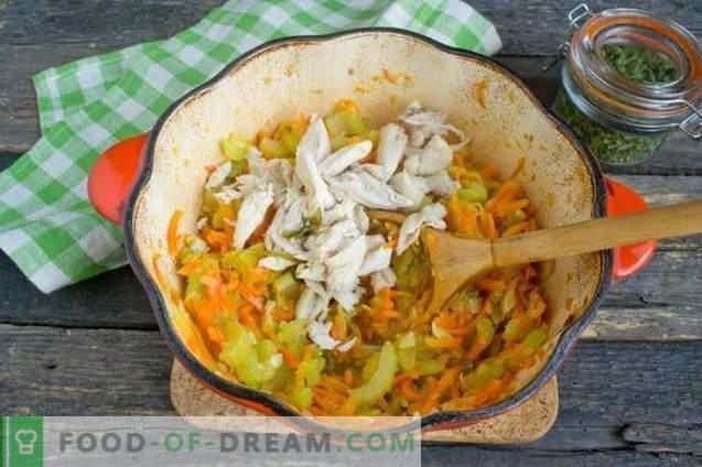 Крем супа с тиквички и пиле