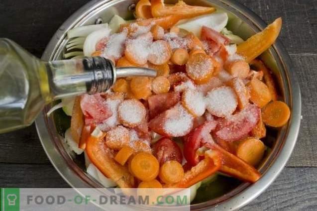 Кюфтета във фурната със сос от зеленчуци