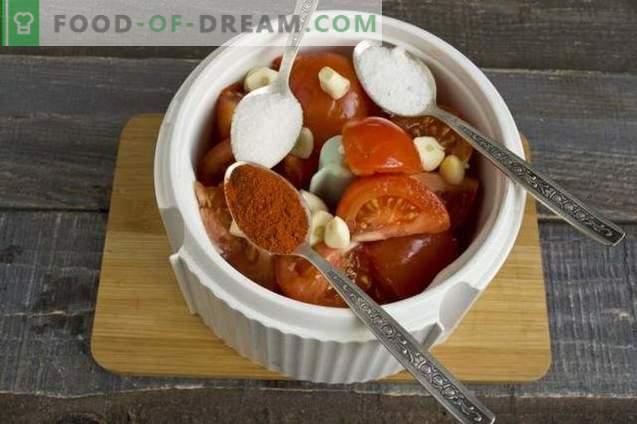 Ciuperci cu roșii și piper dulce