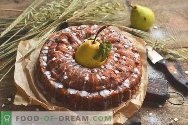 Пай с круши и ябълки - есенни чайни десерти