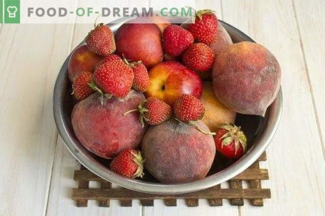 Dżem owocowy z brzoskwiń, truskawek i nektaryn