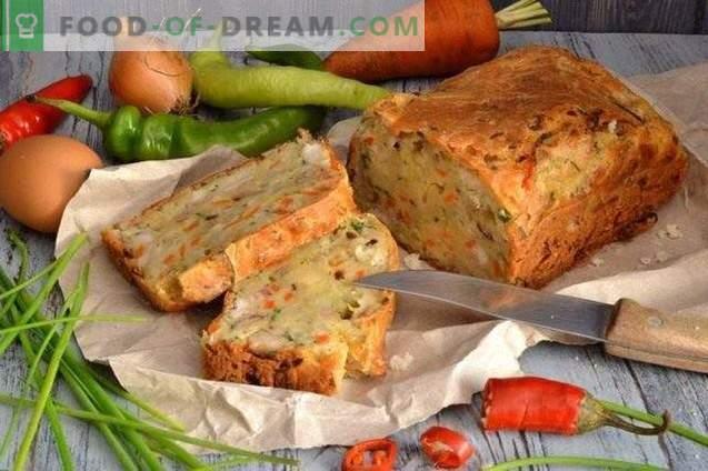 Гъбен пай с пиле и зеленчуци