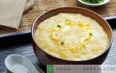 Hoe kook je heerlijke maïspap met melk? De beste recepten en geheimen van het koken van maïspap op melk van granen of meel