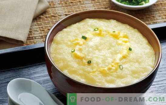 Как да готвя вкусна царевична каша с мляко? Най-добрите рецепти и тайни за готвене на царевица каша с мляко от зърнени култури или брашно