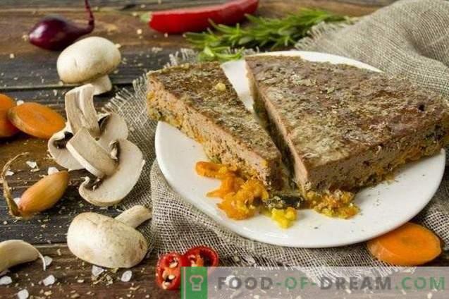 Пастет от говеждо месо с гъби и зеленчуци във фурната