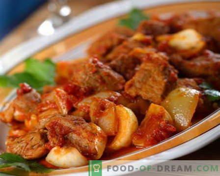 Говеждо задушено - най-добрите рецепти. Как да правилно и вкусно готви готвача яхния.