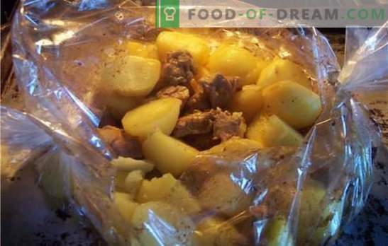 Свинско с картофи във фурната в ръкава - горещо? Рецепти на свинско с картофи във фурната в ръкава със сирене, зеленчуци, горчица