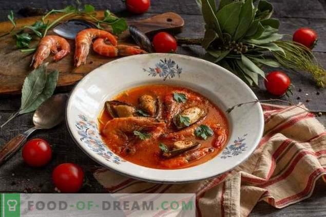 Ярка крем-супа с морски дарове