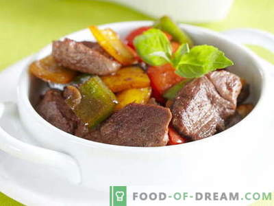 Meat with sweet (Bulgarian) pepper - the best recipes. Cooking properly meat with sweet peppers.