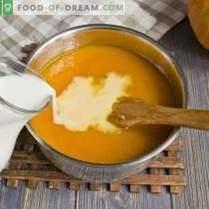 Тиквена супа със сметана и бисквити