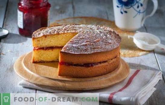 Бисквити с конфитюр - ароматно чудо! Рецепти ярки и сочни бисквити с конфитюр и сметана, кефир, яйца, сметана