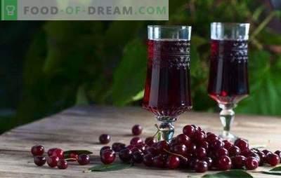 Liqueur de cerise à la maison - la reine de rubis sur la table! Cuisine de délicieuse liqueur de cerise à la maison