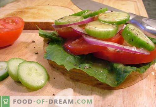 Tomaten-Sandwiches sind die besten Rezepte. Wie schnell und lecker Brötchen mit Tomaten kochen.