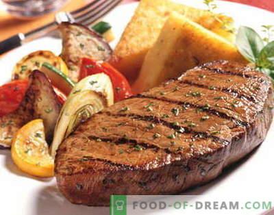 Телешки стек - най-добрите рецепти. Как да правилно и вкусно готви говеждо пържола.