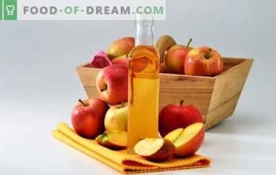 Ябълков оцет: как да го готвя правилно. Тайните на готвене на оцет от ябълки у дома