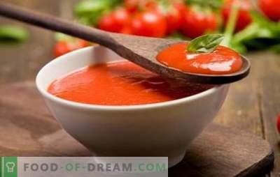 Tomatikaste kodus - loomulikult! Värskete tomatite, tomatipasta või mahla omatehtud tomati kastmega, tšilli paprika, maitsetaimedega, küüslauguga