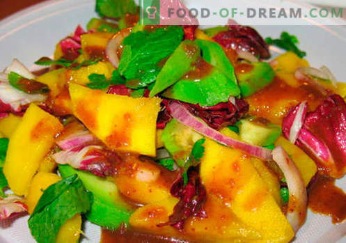 Mango salad - the best recipes. How to properly and tasty cooked salad with mango