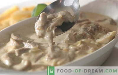 Mięso w śmietanie jest bardzo trudne do zepsucia. 9 najlepszych przepisów na różne rodzaje mięsa w kremowym sosie: kurczak, wołowina, wieprzowina