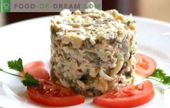 Салата от пиле и шунка - най-добрите доказани рецепти. Вкусна салата с пиле и шунка: добавете гъби, ананаси или ядки?