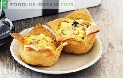 Ham pies - satisfying, tasty, easy! Recipes of different pies with ham and cheese, rice, egg, tomatoes
