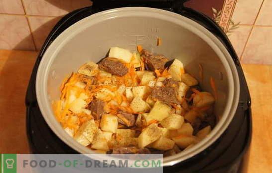 Картофи с месо в бавен котлон: почивка! Рецепти за задушени картофи с месо в бавен котлон: прости и сложни