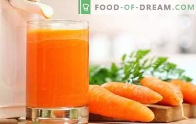 Morkų sultys namuose: kieti vitaminai! Natūralios morkų sulčių ir kokteilių receptai su dalyvavimu