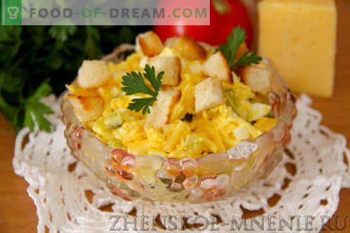 Салата със сирене - рецепта със снимки и описание стъпка по стъпка