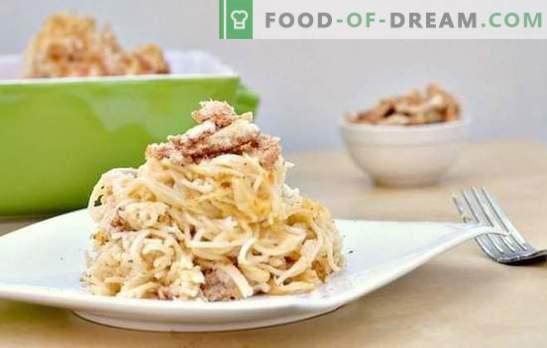 Паста с гъби в кремав сос - ароматно ястие за всеки ден. Селекция от най-добрите рецепти за макаронени изделия с гъби в кремав сос