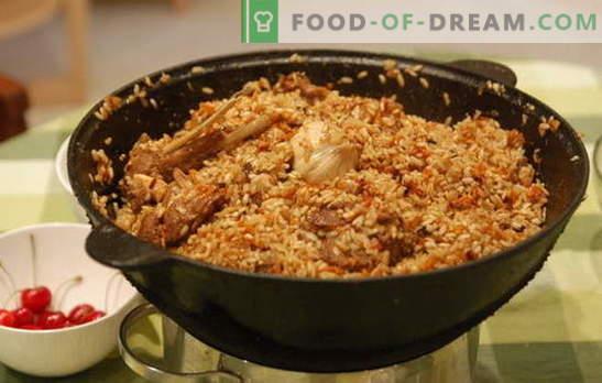 Как да готвя пилаф в котел? Стари рецепти за приготвяне на ронлив пилаф в чугунен котел: с различни видове месо