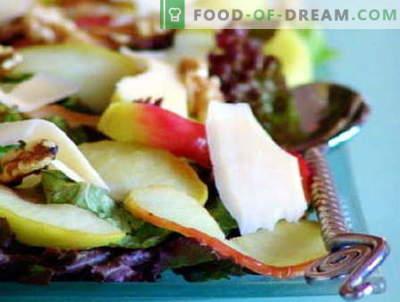 Салатите с ябълки са най-добрите рецепти. Как да правилно и вкусно да се подготви салата с ябълки.
