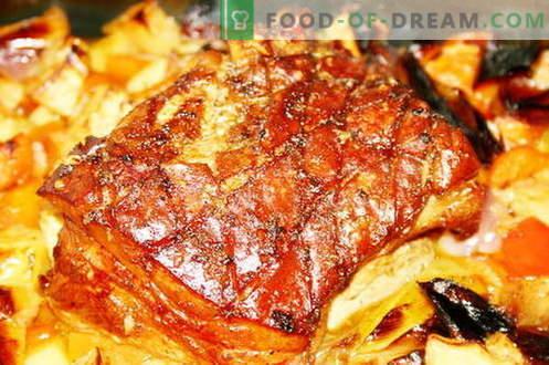 Месо, печено във фурната - най-добрите рецепти. Как правилно и вкусно да се готви месото във фурната.