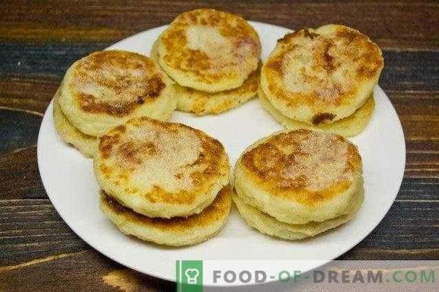 Apple-cheesecakes gevuld met cranberry en sinaasappel