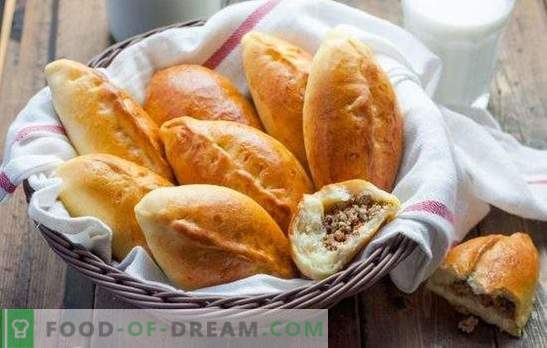 Месото (стъпка по стъпка рецепта) е любимо тесто за лека закуска. Месни питки, стъпка по стъпка рецепта: печени и пържени