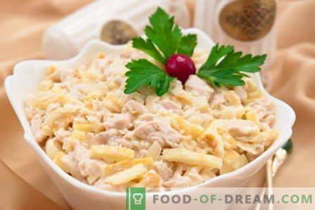 Салата Нежността - най-добрите рецепти. Как да правилно и вкусно да се готви салата Нежност.