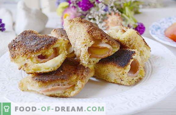 Rápidos bocadillos de pan con chorizo y queso. Esto no lo has probado!
