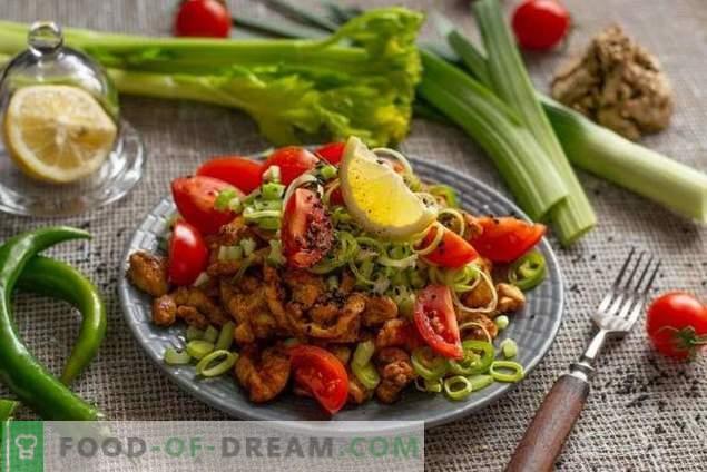 Диетична салата с пиле без майонеза