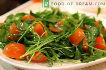 Салата от ракета - най-добрите рецепти. Как да правилно и вкусно да се готви салата с рукола.