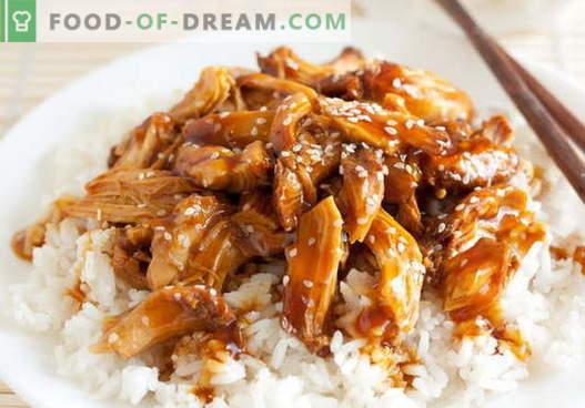 Терияки пиле - най-добрите рецепти. Как правилно и вкусно да се готви пиле терияки.