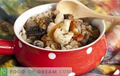 Cauliflower with mushrooms - a bouquet of taste! Recipes for different cauliflower dishes with mushrooms for the pan and oven