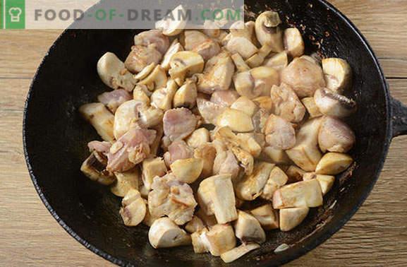 Pecite s svinjino in gobami v ponvi - moški bo rekel da! Preprost korak-po-korak fotografski recept za kuhanje pečenke v ponvi