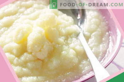 Purée de chou-fleur - les meilleures recettes. Comment bien et savoureux purée de chou-fleur cuit pour les enfants.
